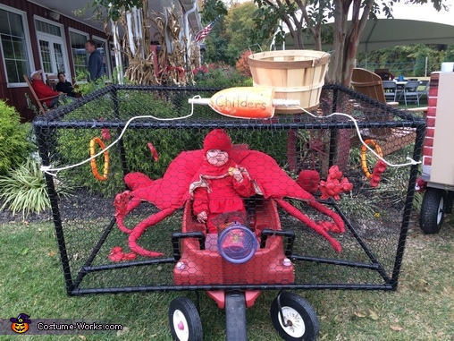 Crab in a Crab Pot Homemade Costume