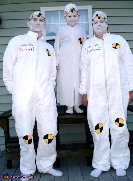 Crash Test Dummies Family Costume