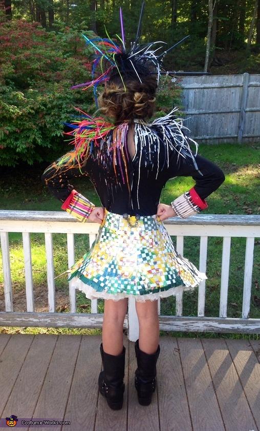 back hand woven crayon boxes, Craylola de Vil Costume