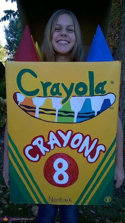Crayola Crayon Box Homemade Costume
