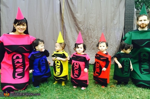 crayola family homemade costume - Crayola Halloween 2