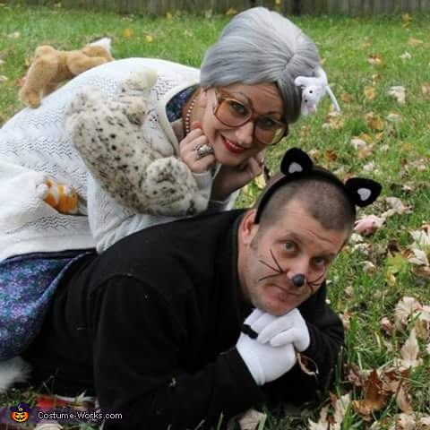 Crazy Cat Lady and Cat Homemade Costume