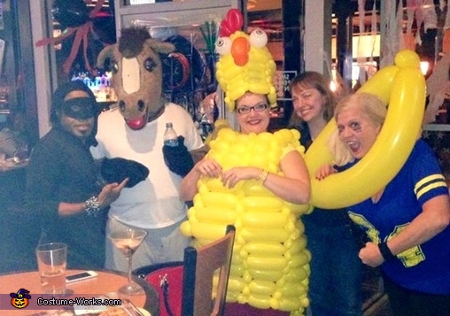 With all of my friends! , Crazy Chicken Costume