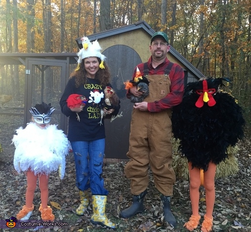 Crazy Chicken Family Costume