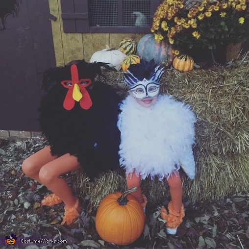 My diva chicken baby and my rooster, Crazy Chicken Family Costume