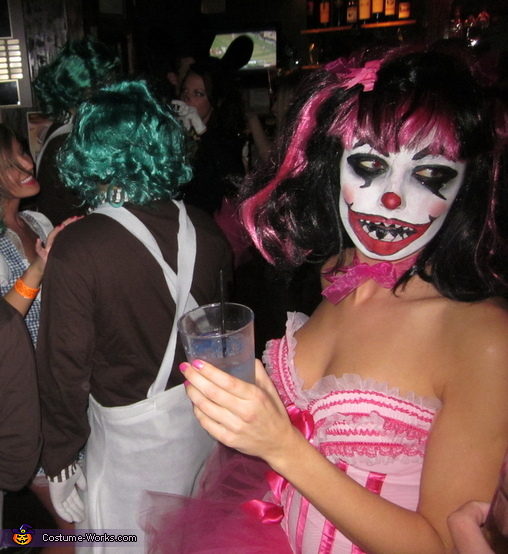 Lost Clown, Crazy Clown Couple Costume
