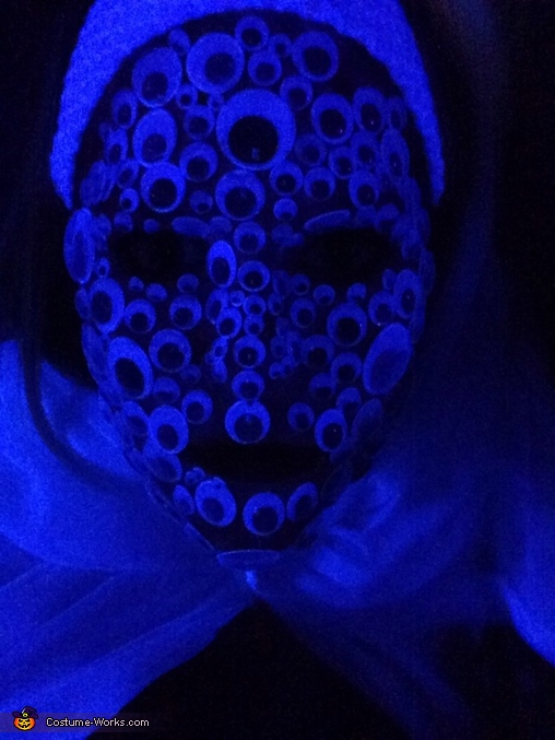 Glow in the dark , Crazy Eyes Costume