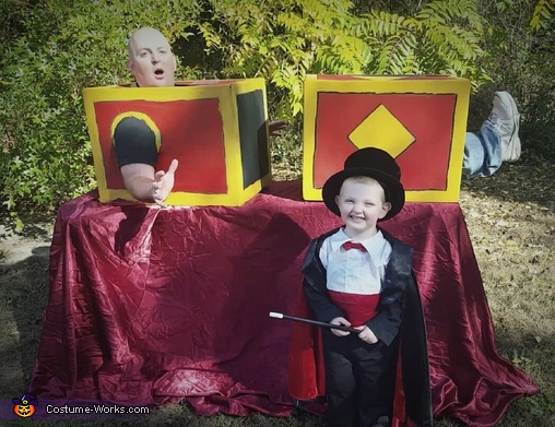 Crazy Magician and Assistant Costume