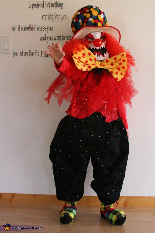 DIY Creepy Clown Costume