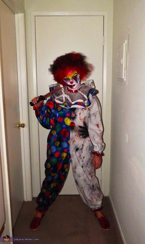 Creepy Clown Couple Homemade Costume