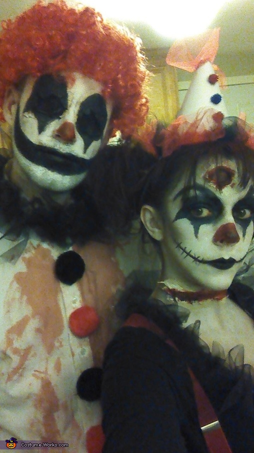 Creepy Clown Couple Homemade Costume