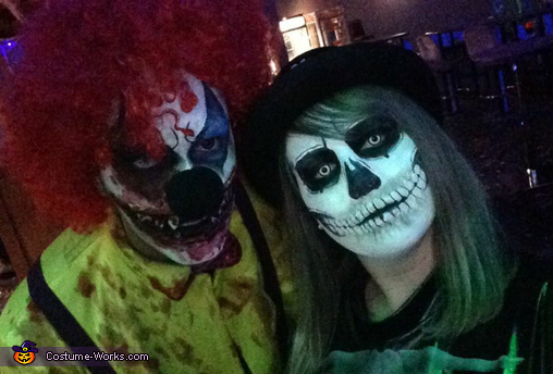 Creepy Clown & Scary Skeleton Costume