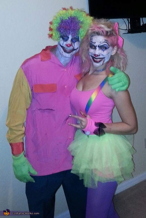 Clown Duo, Creepy Clowns Costume