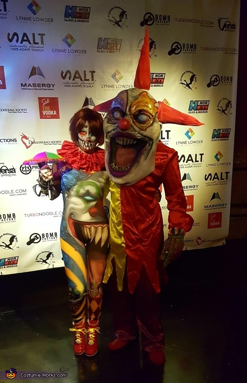Creepy Clowns Out on the Town Costume