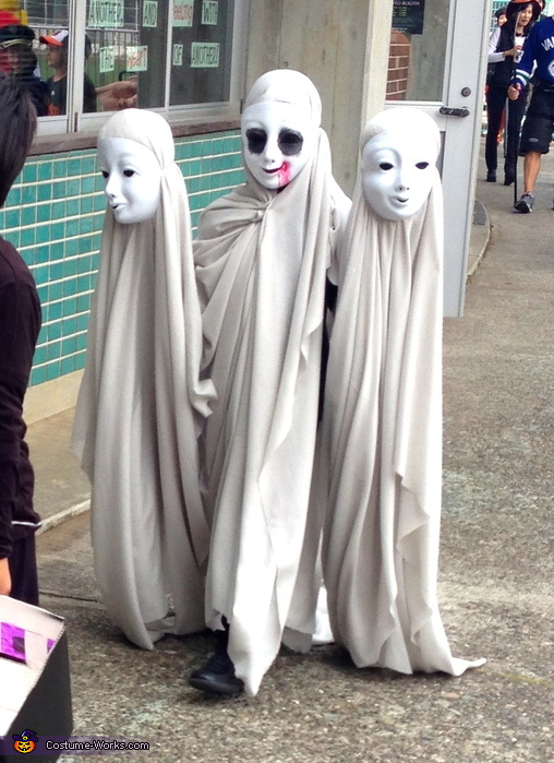 at the school parade, Creepy Moving Ghosts Costume