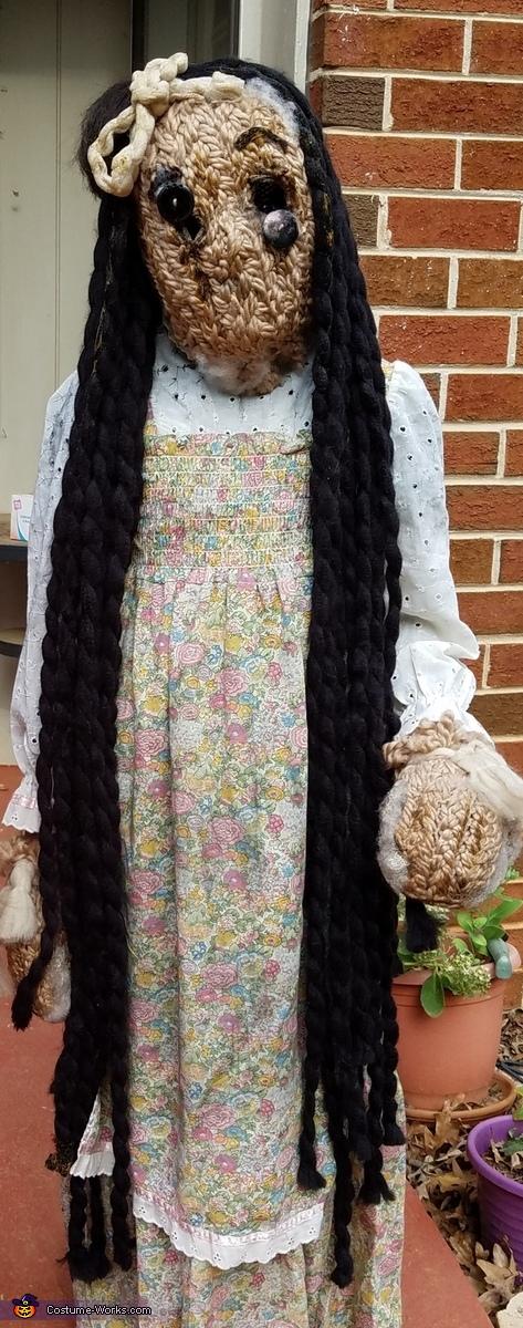 Creepy Old Doll Homemade Costume