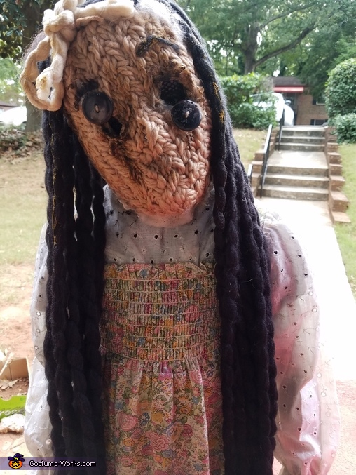 Creepy Old Doll Homemade Costume