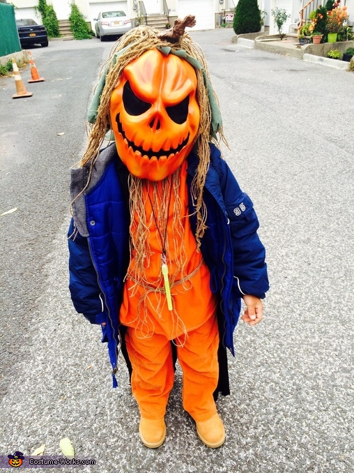 Creepy Pumpkin Scarecrow Costume