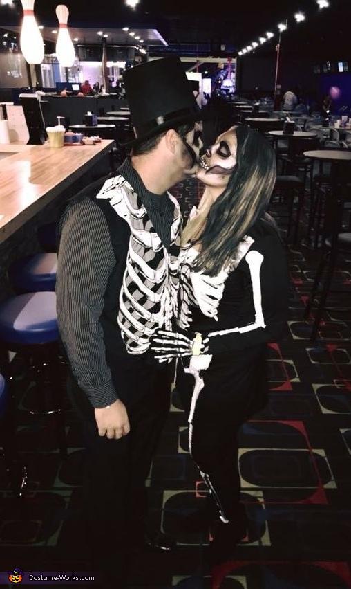 Creepy Skeleton Couple Homemade Costume