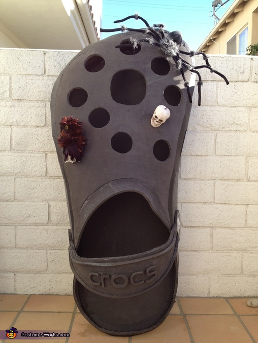 CROC frontal view, Croc Shoe Costume