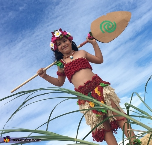 Crocheted Moana Homemade Costume