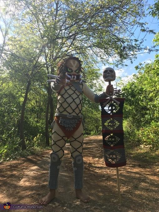 Crocheted Predator Homemade Costume
