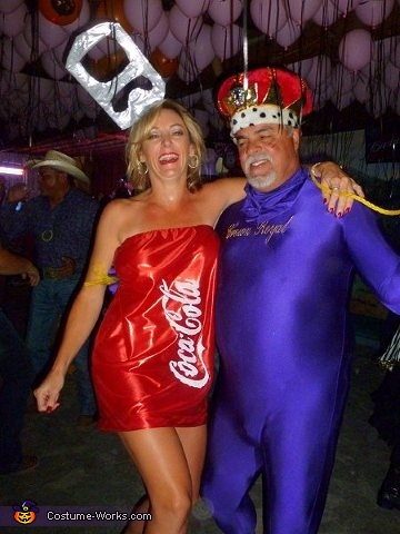 Crown and Coke Couple Costume