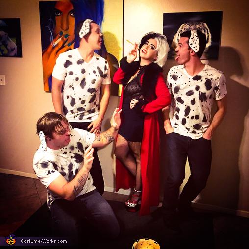 Cruela De Vil and her Puppies Homemade Costume