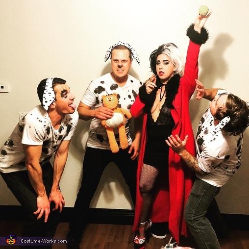 Down Boy, Cruela De Vil and her Puppies Costume