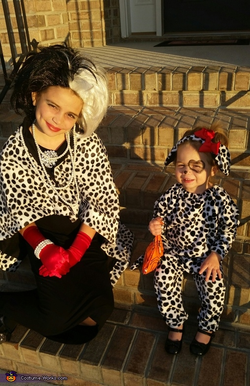 Cruella and her Puppy Homemade Costume