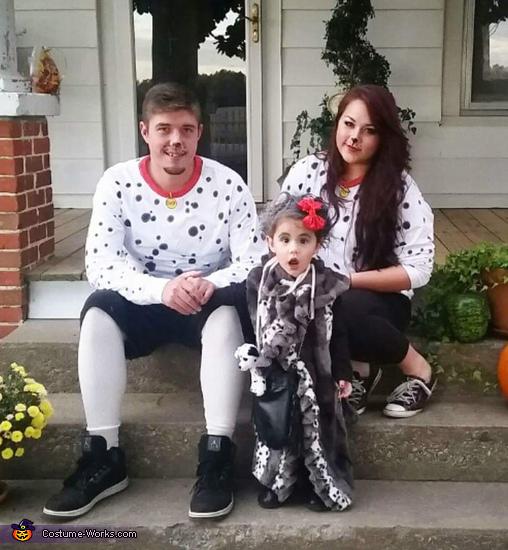 Cruella and Pups Costume