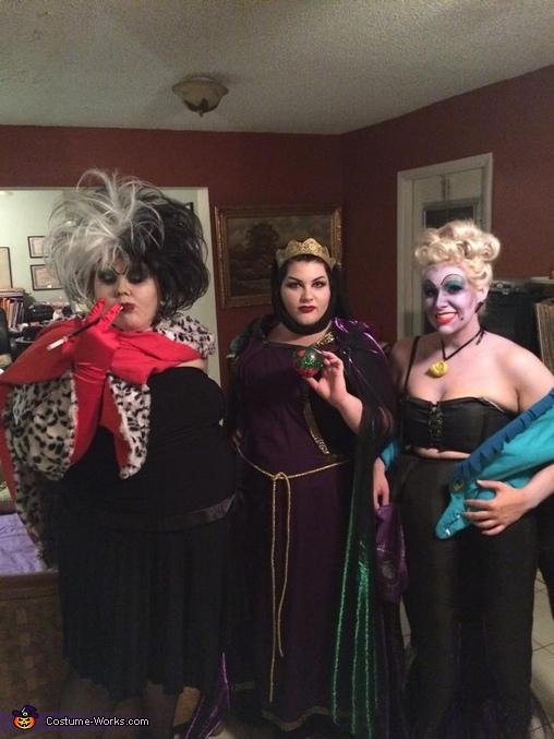 Cruella De Vil, Evil Queen and Ursula, Cruella De Vil Costume