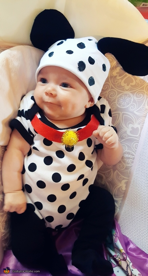 Rylan as the dalmatian puppy, Cruella de Vil and Dalmatian Puppy Costume