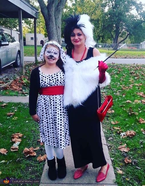 Cruella de Vil and Dalmation Costume
