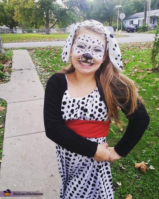 Cruella de Vil and Dalmation Homemade Costume