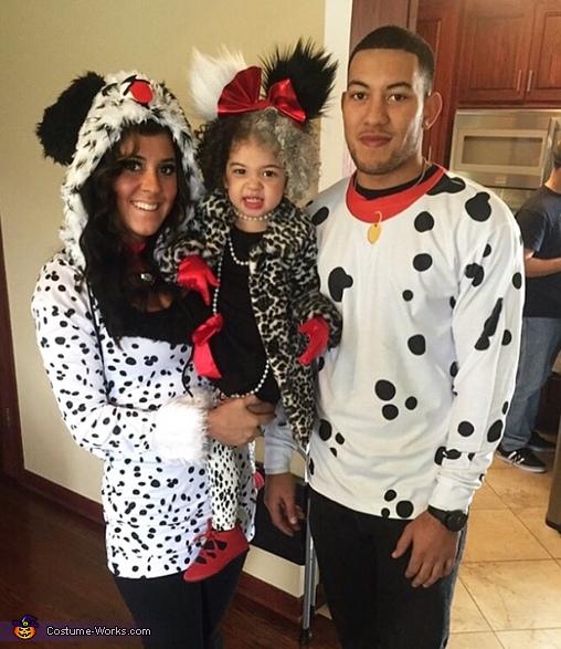 Cruella De Vil and her Dalmatians Costume