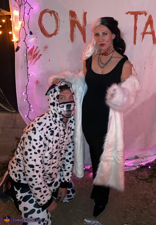 Cruella de Vil and Pongo Costume