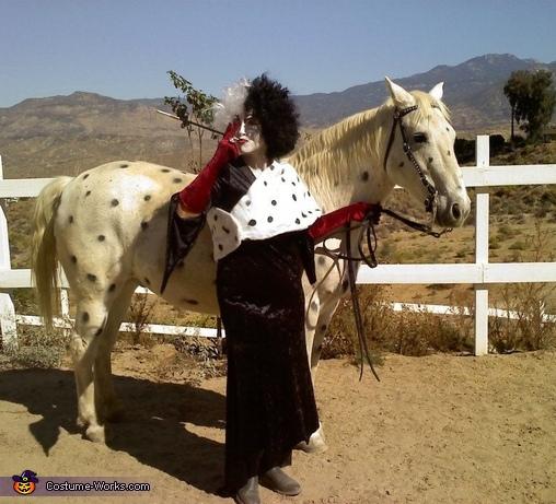Cruella de Ville and Puppy Horse Costume