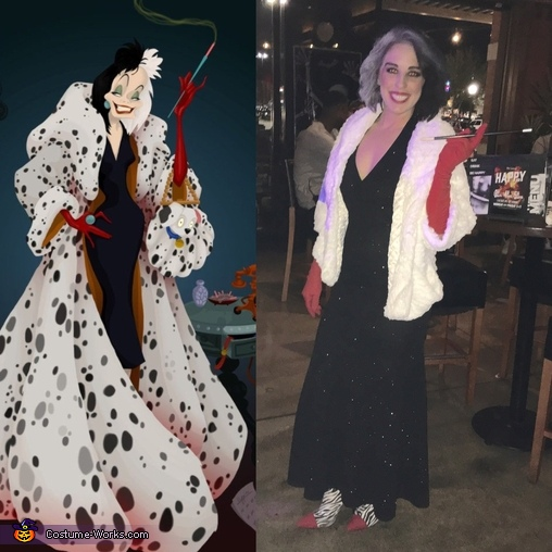 Aways got to have the comparison shot lol, Cruella DeVil Costume