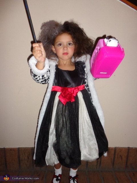 Cruella DeVille Costume for Girl