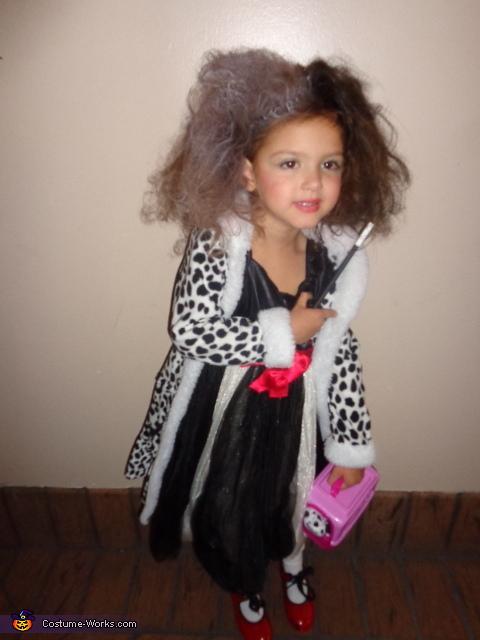 Cruella DeVille Costume for Girl