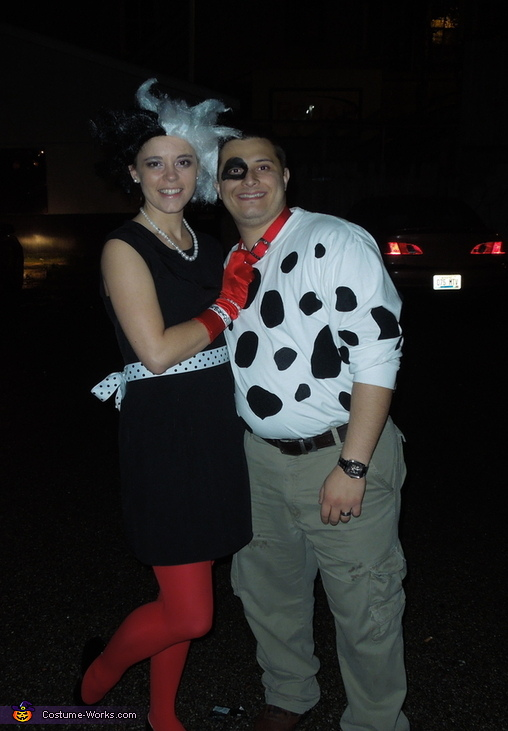 Cruella DeVille and Dalmatiaon Costume
