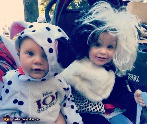Cruella Deville and her One Dalmatian Costume