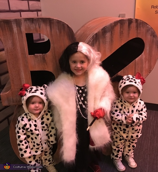 Cruella Deville and her Puppies Costume