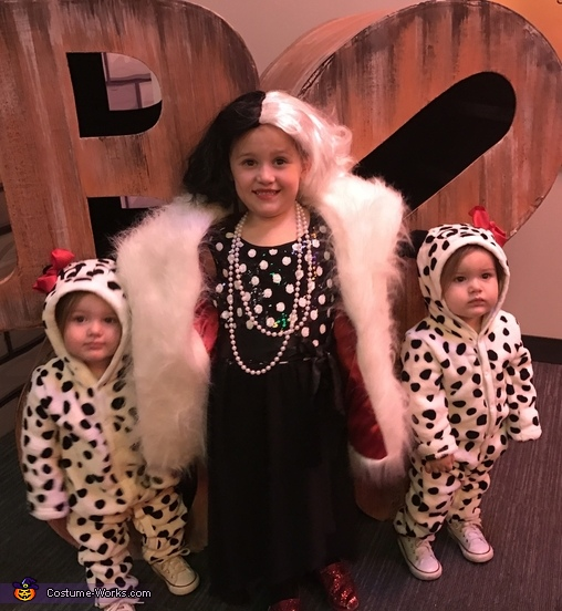 Cruella Deville and her Puppies Homemade Costume