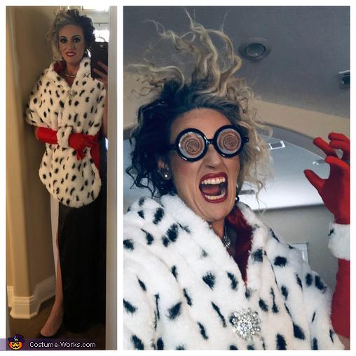 Cruella Deville and her Puppies Homemade Costume