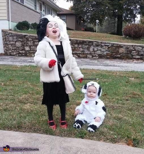 Cruella Deville and the Dalmation Costume