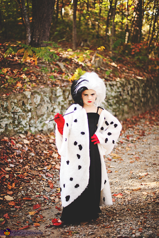 Cruella Deville Girl Homemade Costume