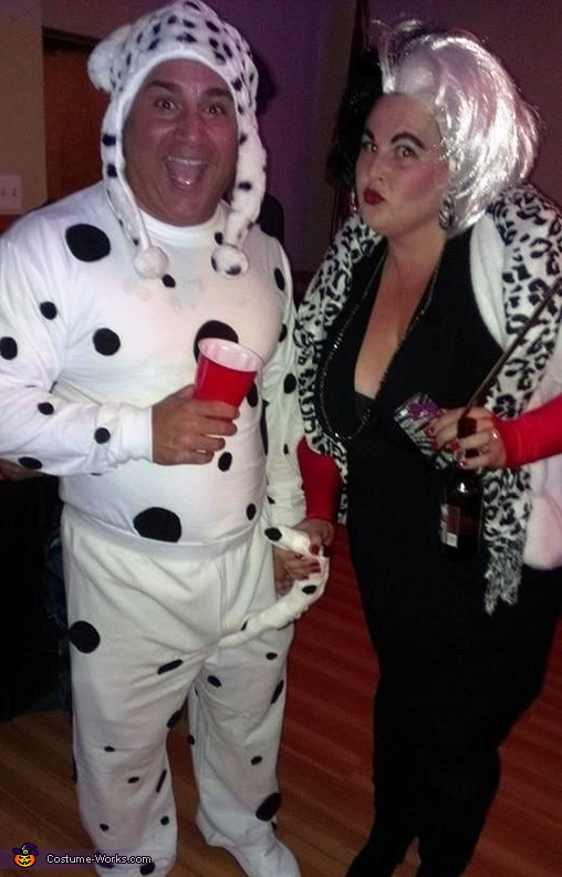 Cruella & Her Pup Couple Costume