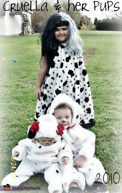Cruella & her Pups Homemade Costume
